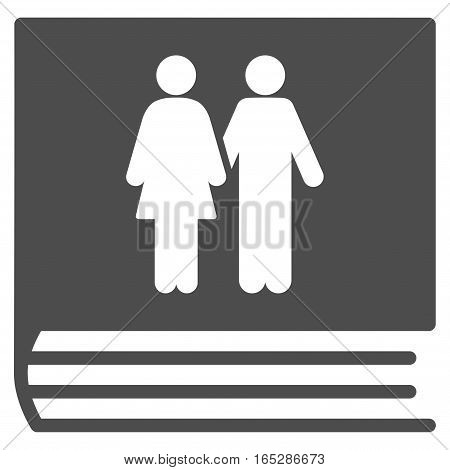 Family Album vector icon. Flat gray symbol. Pictogram is isolated on a white background. Designed for web and software interfaces.