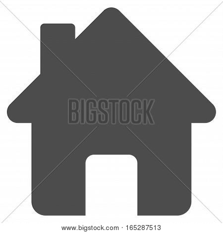 Home vector icon. Flat gray symbol. Pictogram is isolated on a white background. Designed for web and software interfaces.