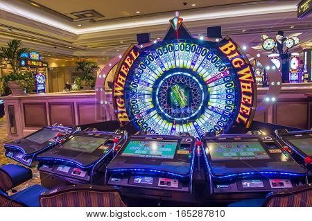 LAS VEGAS - OCT 05 : The interior of Palazzo hotel and Casino on October 05 2016 in Las Vegas. Palazzo hotel opened in 2008 and it is the tallest completed building in Las Vegas