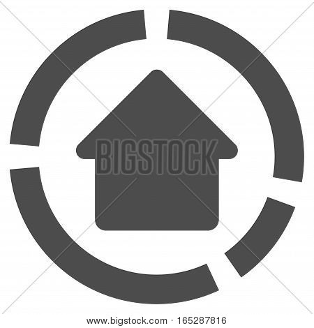 House Diagram vector icon. Flat gray symbol. Pictogram is isolated on a white background. Designed for web and software interfaces.