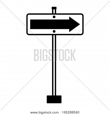 traffic signal information with arrow icon vector illustration design