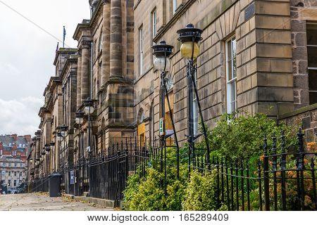 Historical Buildings In Edinburgh, Scotland