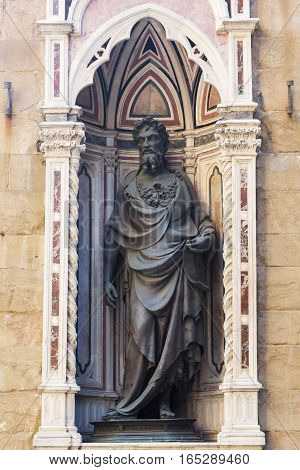 Religious Statue In Florence, Italy