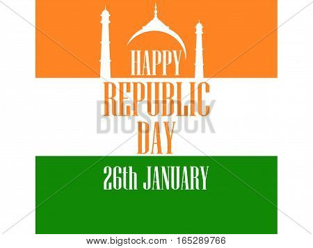 26 january Republic Day India. The text of congratulations for the banners and posters. Vector illustration