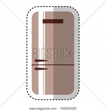 fridge home appliance icon vector illustration design