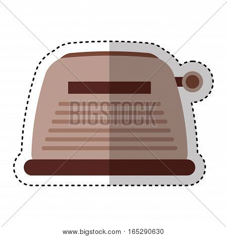 toaster home appliance isolated icon vector illustration design