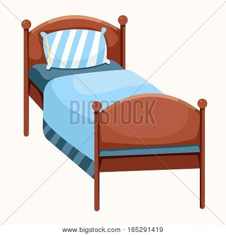 Illustrator of bed isolated for kid at home