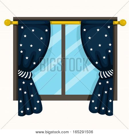 Illustrator of drapery and windows for home