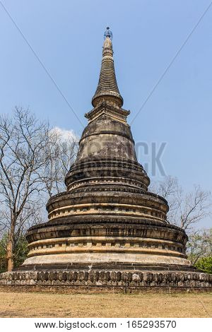 Old pagoda in wat Umong, Chiang mai Thailand