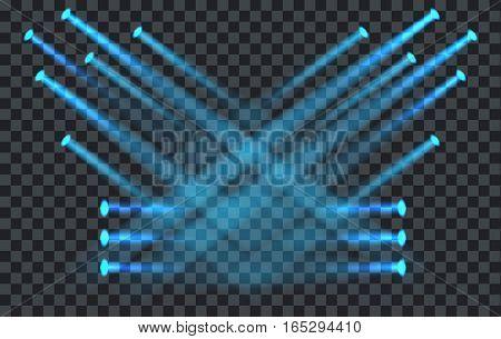 Vector Light Effect Spotlight with Transparent Background