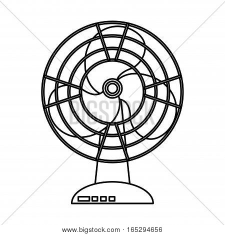 fan home appliance isolated icon vector illustration design