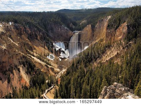Lower falls, Yellowstone River, Yellowstone National Park