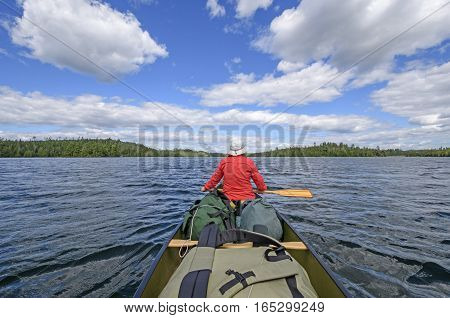 Heading out to Deep Water on Birch Lake in Quetico Provincial Park in Ontario