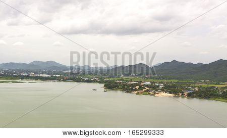 Mae Klong River in Kanchanaburi Province of Thailand