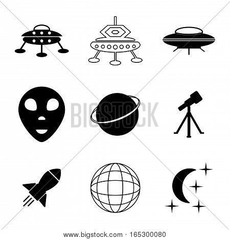 ufo and space icons set,vector Illustration EPS10