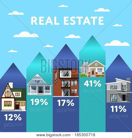 Real estate infographic elements. Creative elements. Vector infographic elements. Creative business concept of stage, parts, steps. Business infographic elements. Infographics template. Infographic elements concept. Time line stage.