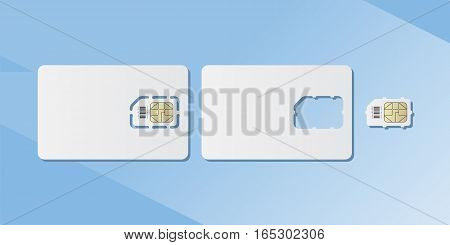 SIM cards for smartphone. Flat vector illustration EPS 10