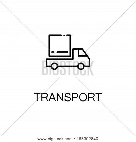 Transport icon. Single high quality outline symbol for web design or mobile app. Thin line sign for design logo. Black outline pictogram on white background