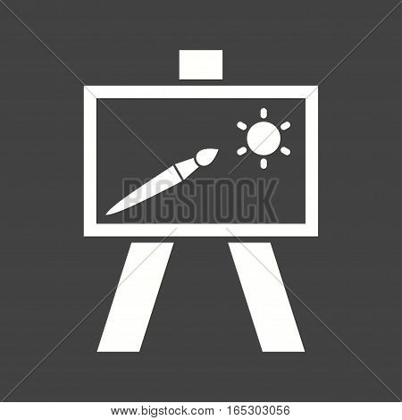 Painting, canvass, art icon vector image. Can also be used for museum.