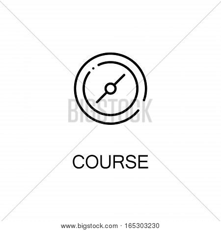 Compass icon. Single high quality outline symbol for web design or mobile app. Thin line sign for design logo. Black outline pictogram on white background