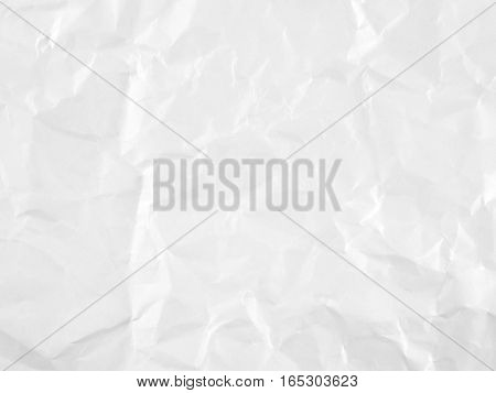 wrinkled white paper texture, crease abstract pattern background