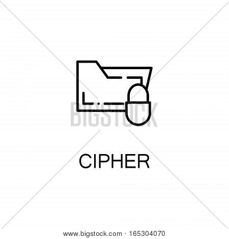 Cipher icon. Single high quality outline symbol for web design or mobile app. Thin line sign for design logo. Black outline pictogram on white background