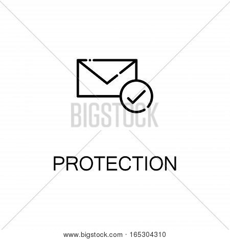 Mail icon. Single high quality outline symbol for web design or mobile app. Thin line sign for design logo. Black outline pictogram on white background