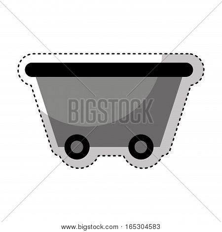 Mine wagon isolated icon vector illustration design
