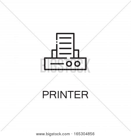 Printer icon. Single high quality outline symbol for web design or mobile app. Thin line sign for design logo. Black outline pictogram on white background