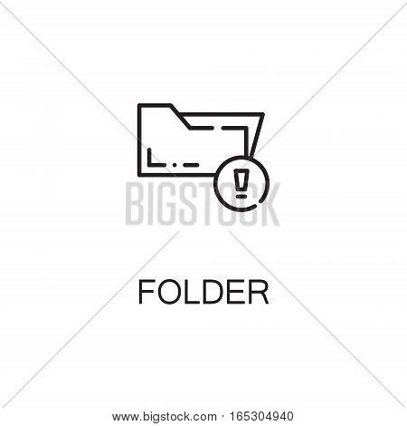 Folder icon. Single high quality outline symbol for web design or mobile app. Thin line sign for design logo. Black outline pictogram on white background