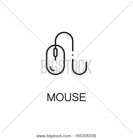 Mouse icon. Single high quality outline symbol for web design or mobile app. Thin line sign for design logo. Black outline pictogram on white background