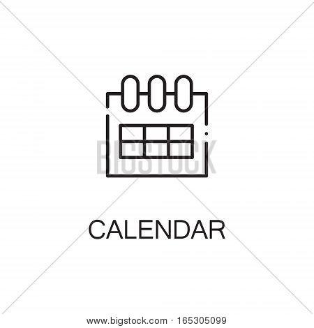 Calendar icon. Single high quality outline symbol for web design or mobile app. Thin line sign for design logo. Black outline pictogram on white background