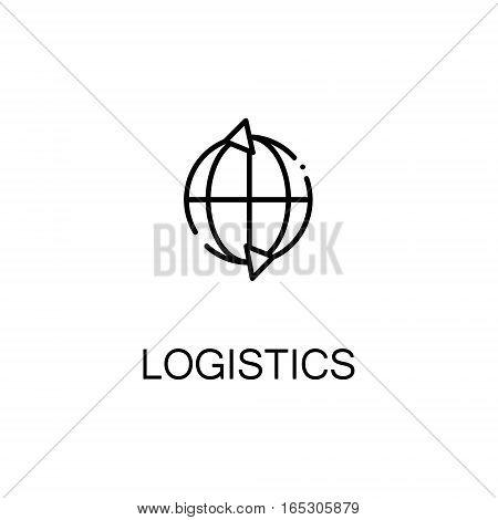 Logistics icon. Single high quality outline symbol for web design or mobile app. Thin line sign for design logo. Black outline pictogram on white background