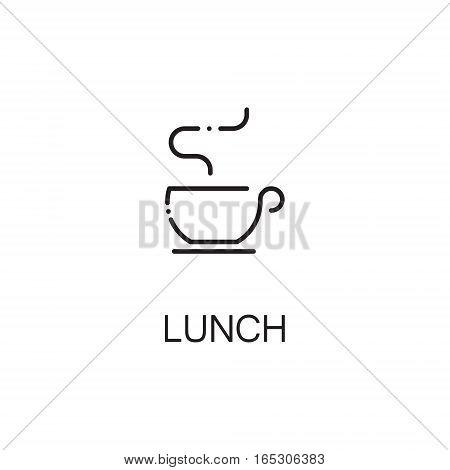 Tea icon. Single high quality outline symbol for web design or mobile app. Thin line sign for design logo. Black outline pictogram on white background