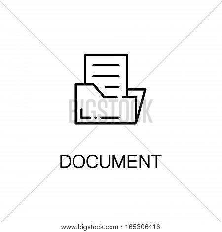 Document icon. Single high quality outline symbol for web design or mobile app. Thin line sign for design logo. Black outline pictogram on white background