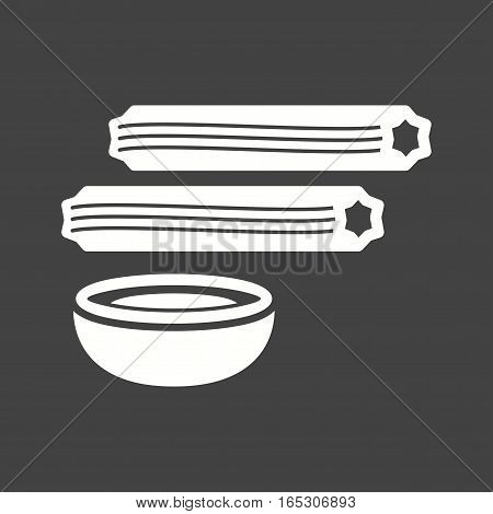 Churros, sweet, food icon vector image. Can also be used for european cuisine.