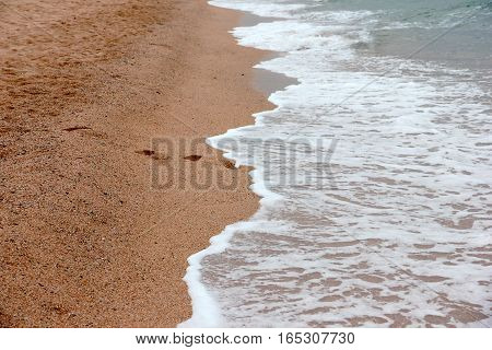 coastline of sandy beaches with excellent sea waves