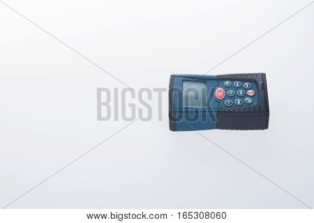Architectural Tool Or Laser Rangefinder On A Background.