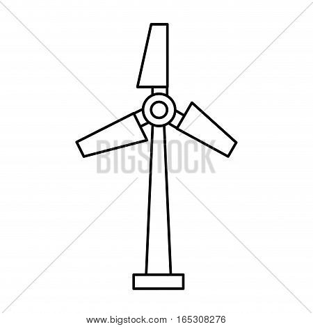turbine generator energy icon vector illustration design