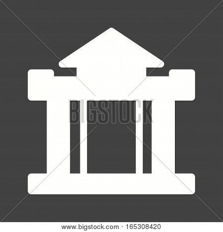 Building, bank, institution icon vector image. Can also be used for town.