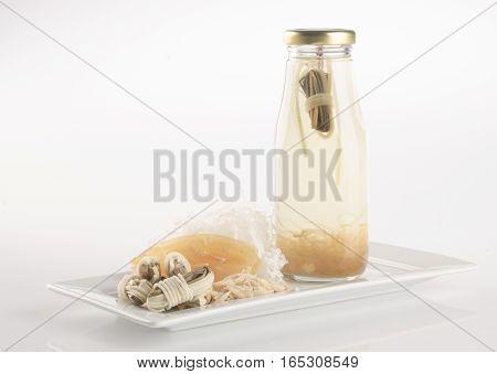 Health Tea Or Chinese Medicine Health Tea On Background.