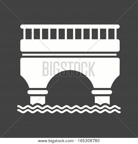 Bridge, road, highway icon vector image. Can also be used for town.