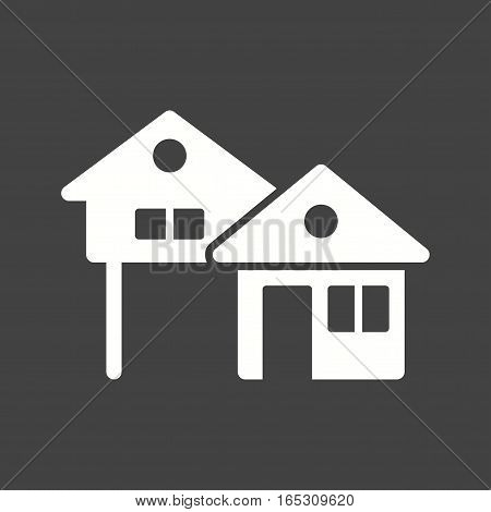 House, town, architecture icon vector image. Can also be used for town.