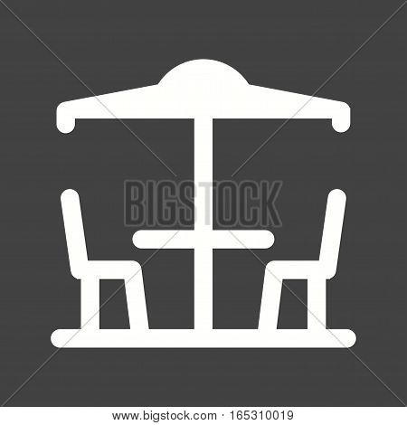 Cafe, outdoor, town icon vector image. Can also be used for town.