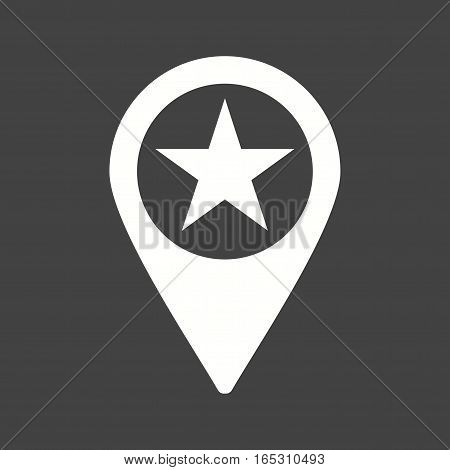 Location, star, town icon vector image. Can also be used for town.