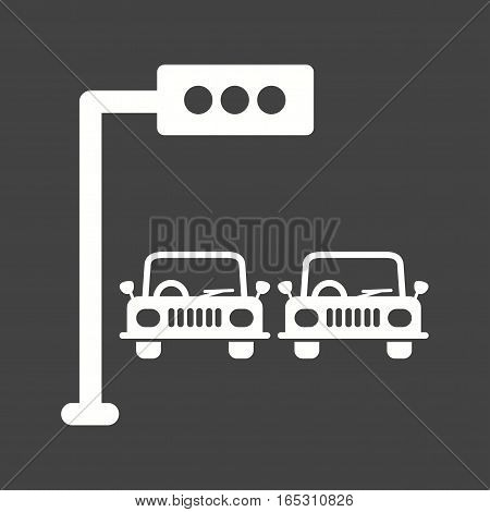 Traffic, light, signal icon vector image. Can also be used for town.
