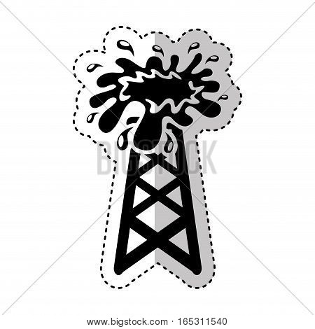 oil tower isolated icon vector illustration design