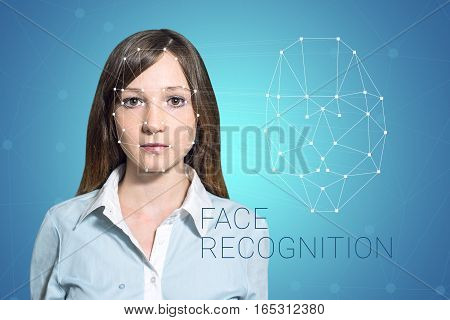 Biometric Verification Woman Face Detection, High Technology