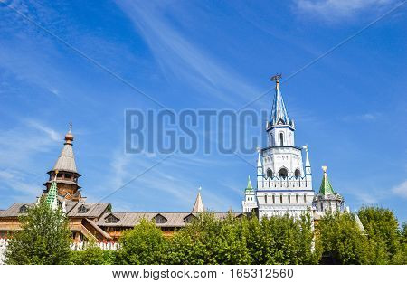 Cultural-entertainment center - Kremlin in Izmailovo district of Moscow, Russia