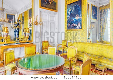 Versailles, France - July 02, 2016 : Family Salon (apartaments) Of Louis Philippe In The Grand Trian